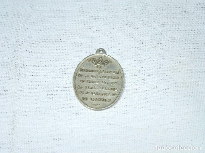 Antigüedades: Antigua Medalla Religiosa De La Inmaculada Concepcion. 1884. P. Navarro.4 x 3 Cm. - Foto 3 - 216517825