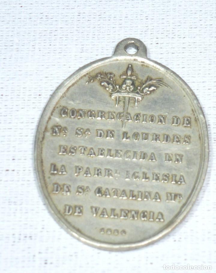 Antigüedades: Antigua Medalla Religiosa De La Inmaculada Concepcion. 1884. P. Navarro.4 x 3 Cm. - Foto 4 - 216517825