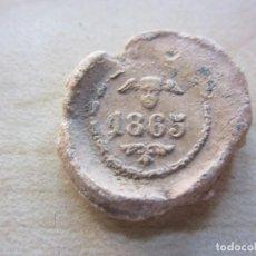 Antigüedades: PRECINTO DE PLOMO DE SANTANDER FECHADO 1865. Lote 216531892