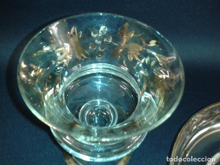 Antigüedades: Copón. Hostiario. Cristal. Posiblemente La Granja. Segovia. Principios del siglo XIX. - Foto 7 - 216545588