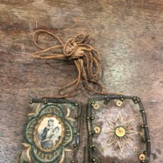 Antigüedades: ANTIGUO ESCAPULARIO VIRGEN DEL CARMEN - MEDIDA 3,5X3 CM. Lote 216545868