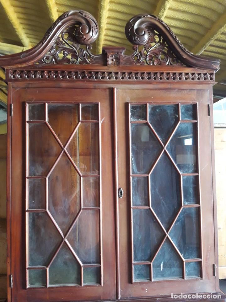 Antigüedades: vitrina escritorio chipendal - Foto 2 - 216547252