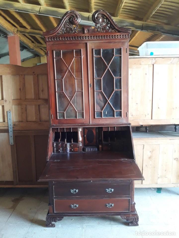 Antigüedades: vitrina escritorio chipendal - Foto 5 - 216547252