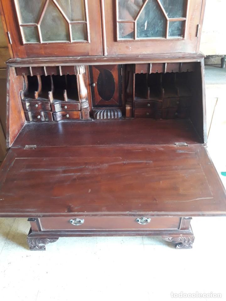 Antigüedades: vitrina escritorio chipendal - Foto 6 - 216547252