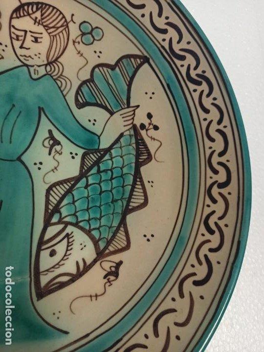 Antigüedades: Gran plato cerámico Paterna Siglo XIII. C19 - Foto 4 - 216557467