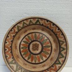 Antigüedades: GRAN PLATO CERÁMICO EGIPCIO. C19. Lote 216557993