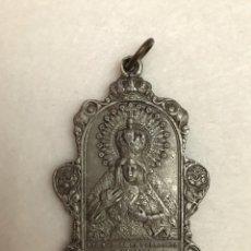 Antigüedades: SEMANA SANTA SEVILLA. ANTIGUA MEDALLA DE ALUMINIO/CALAMINA DE LA HERMANDAD DE LA MACARENA. Lote 216561878