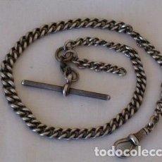 Antigüedades: ANTIGUA CADENA DE PLATA INGLESA, HACIA PRINCIPIOS DEL SIGLO XX. Lote 216568916