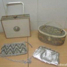 Antiquités: CUATRO BOLSOS AÑOS 50 MADE IN USA MAX FACTOR TYROLEAN. Lote 216589936