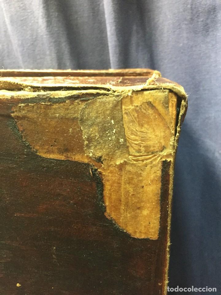 Antigüedades: BAÚL CHINO EXPORTACION EUROPA GOFRADO CUERO PIEL AVES ENTRE CEREZOS EN FLOR 4800GRS 26X67X45CMS - Foto 13 - 216601566