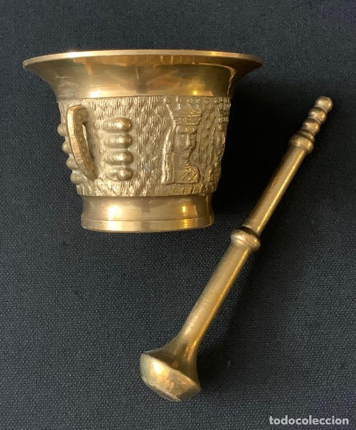 Antigüedades: ALMIREZ MORTERO DE METAL - Foto 2 - 216602545