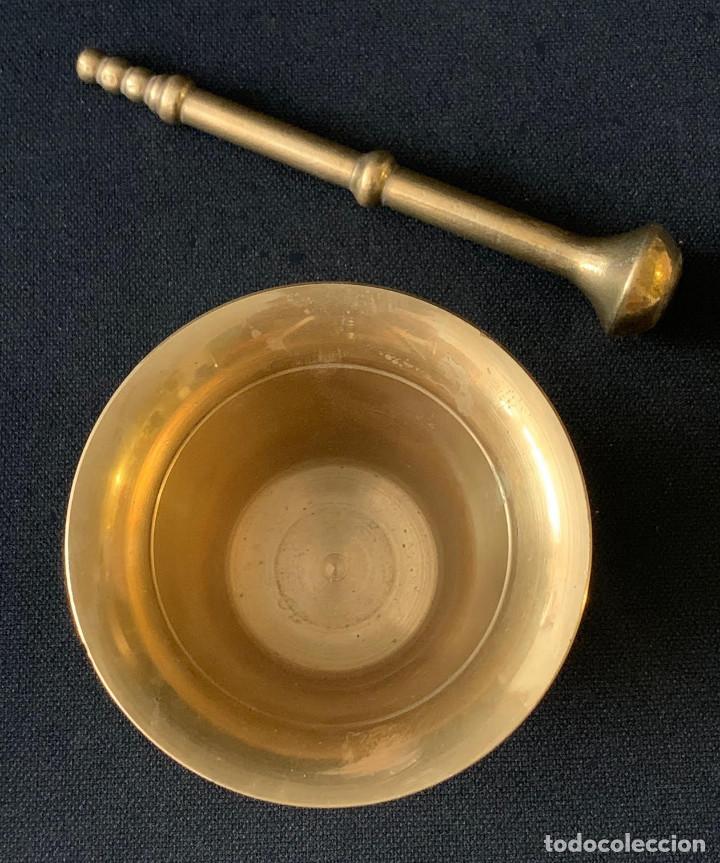 Antigüedades: ALMIREZ MORTERO DE METAL - Foto 4 - 216602545