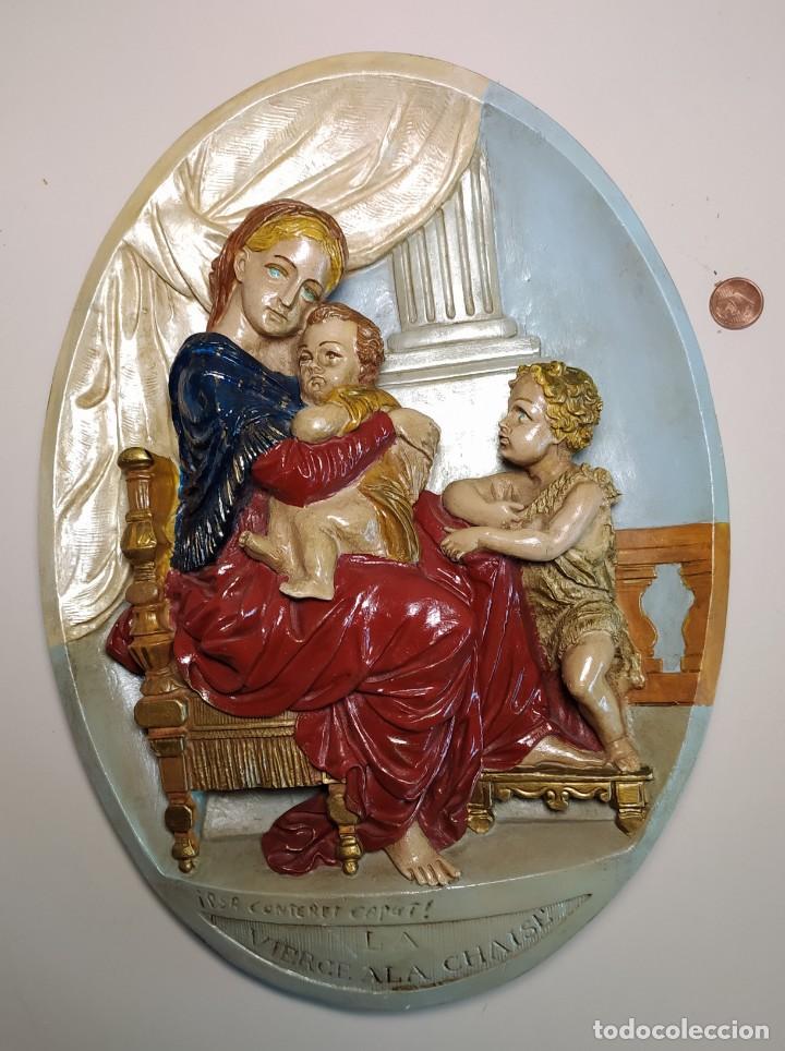 Antigüedades: ANTIGÜEDAD RELIGIOSA VIERGE ALA CHAISE - Foto 4 - 216625680