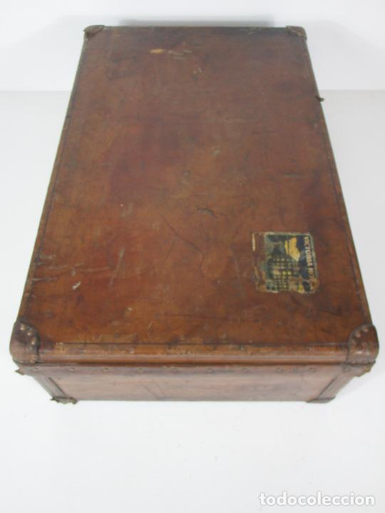 Antigüedades: Maleta - Louis Vuitton - Madera y Cuero - Año 1890-1919 - Foto 19 - 216637271