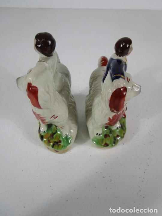 Antigüedades: Pareja de Figuras Antiguas - Staffordshire, Porcelana Inglesa - Foto 4 - 216639668