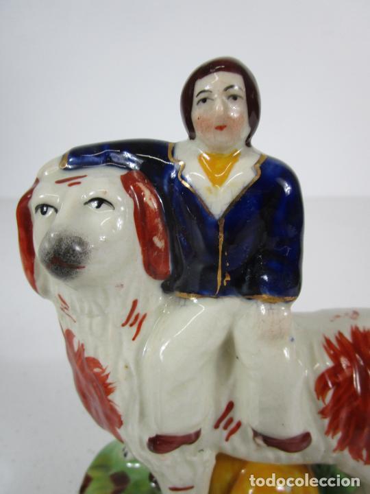 Antigüedades: Pareja de Figuras Antiguas - Staffordshire, Porcelana Inglesa - Foto 9 - 216639668