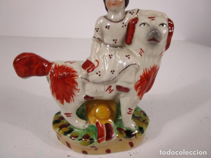 Antigüedades: Pareja de Figuras Antiguas - Staffordshire, Porcelana Inglesa - Foto 22 - 216639668