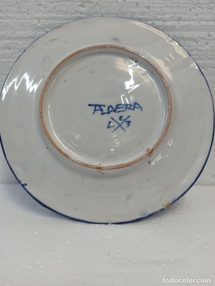 Antigüedades: Plato cerámica Talavera. Decoración tradicional. C19 - Foto 2 - 216643172