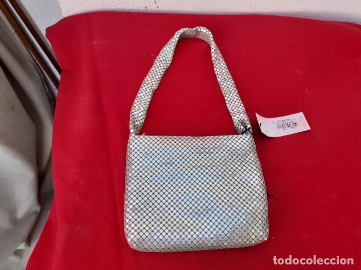 Antigüedades: bolso de metal plateado - Foto 2 - 216653740