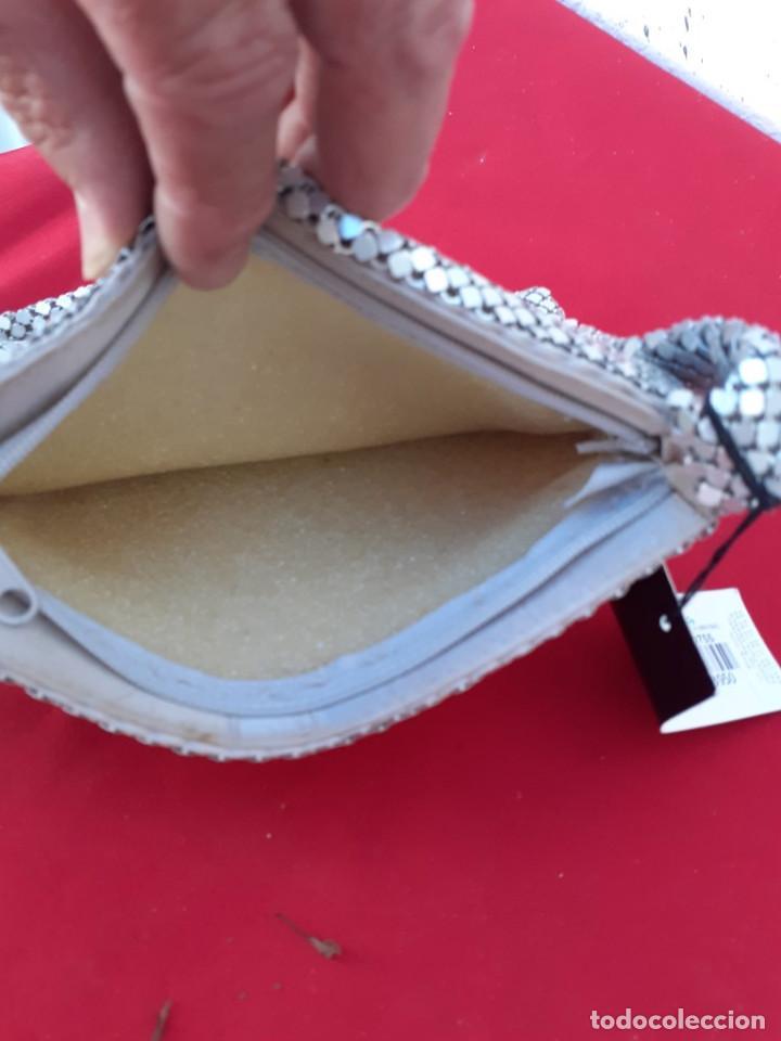 Antigüedades: bolso de metal plateado - Foto 3 - 216653740