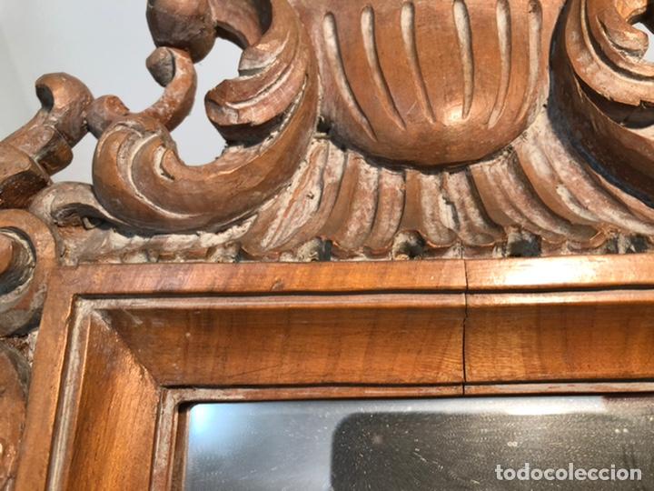 Antigüedades: ESPEJO DE TALLA DE MADERA. - Foto 5 - 216660510