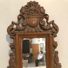 Antigüedades: ESPEJO DE TALLA DE MADERA.. Lote 216660510