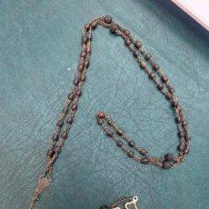 Antigüedades: ROSARIO CON CUENTAS DE MADERA - MEDIDA 49 CM - RELIGIOSO. Lote 216669788