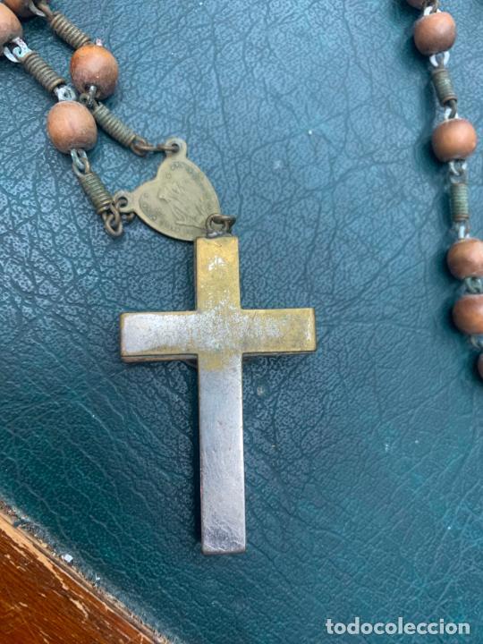 Antigüedades: ROSARIO CON CUENTAS DE MADERA - MEDIDA 45 CM - RELIGIOSO - Foto 3 - 216676107