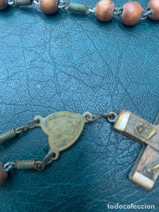 Antigüedades: ROSARIO CON CUENTAS DE MADERA - MEDIDA 45 CM - RELIGIOSO - Foto 4 - 216676107
