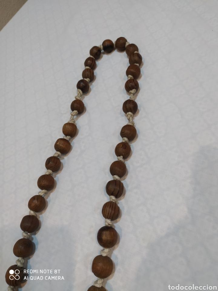 Antigüedades: Antiguo Rosario de madera de la Virgen de la Fuensanta de 1975 - Foto 7 - 216705811