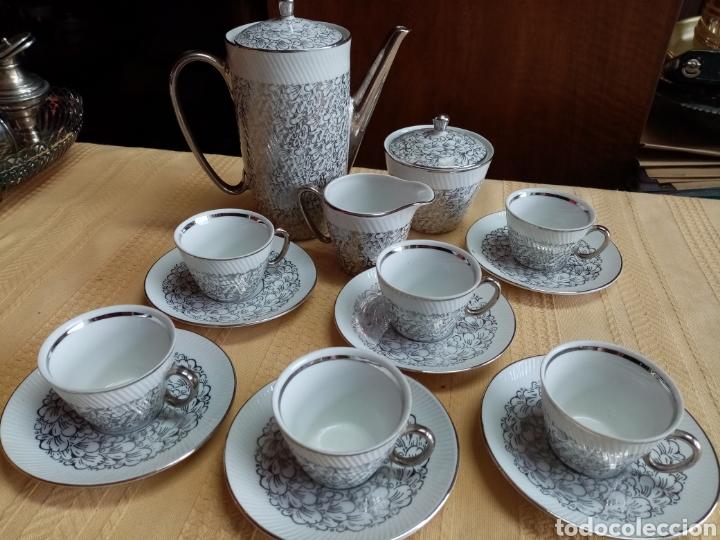 JUEGO DE CAFÉ DE SANTA CLARA (Antigüedades - Porcelanas y Cerámicas - Santa Clara)