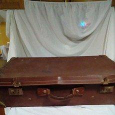 Antigüedades: ANTIGUA MALETA DE CUERO. Lote 216713871