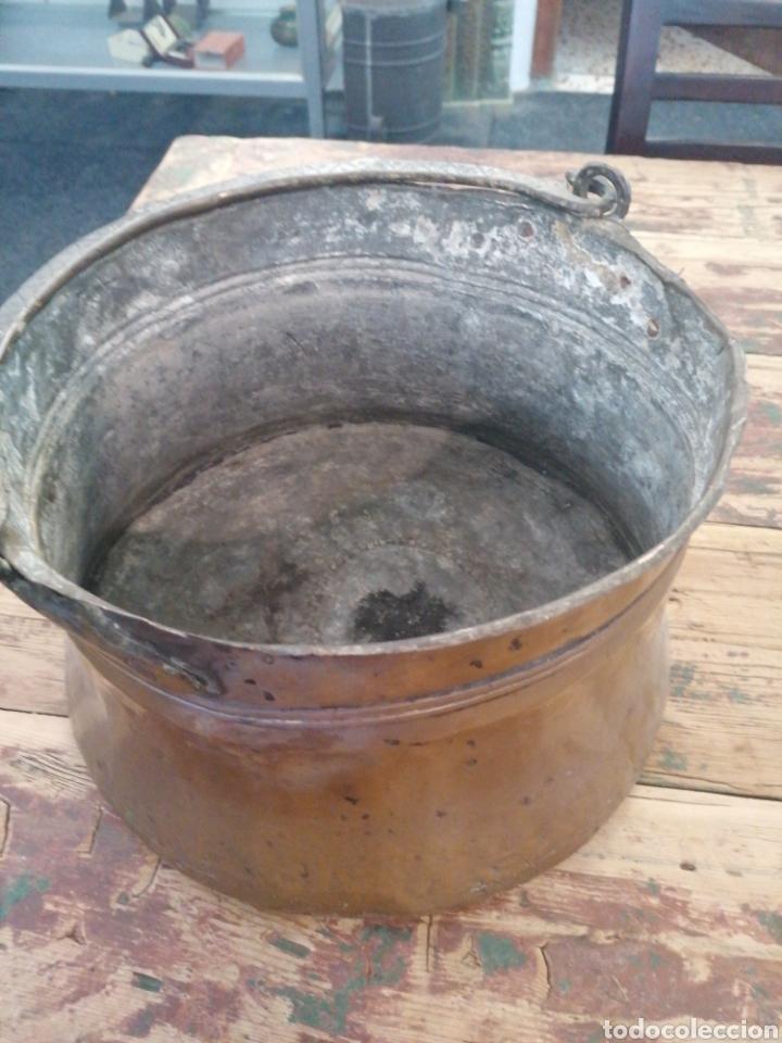 Antigüedades: Caldero de cobre con asa - Foto 2 - 216770735