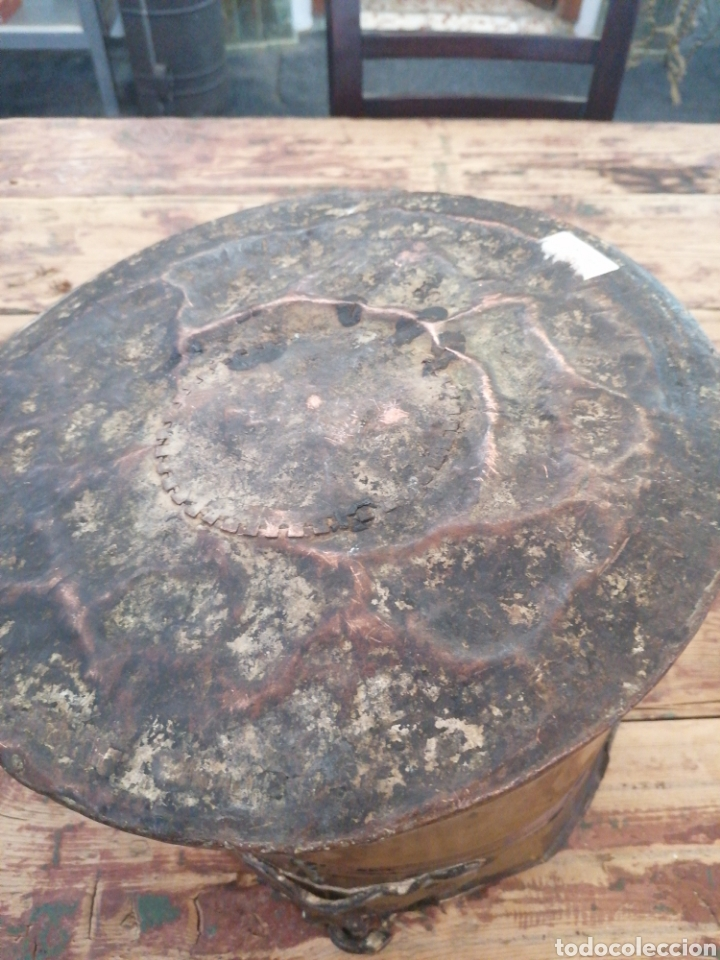Antigüedades: Caldero de cobre con asa - Foto 4 - 216770735