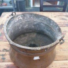 Antigüedades: CALDERO DE COBRE CON ASA. Lote 216770735