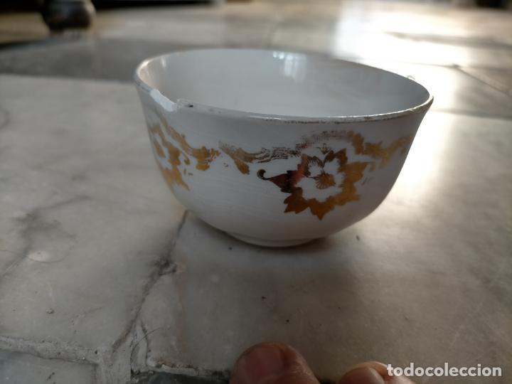 Antigüedades: PICKMAN CARTUJA CERAMICA ANTIGUA PORCELANA 3 PLASTOS 3 TAZAS VER FOTOS - Foto 5 - 216771285