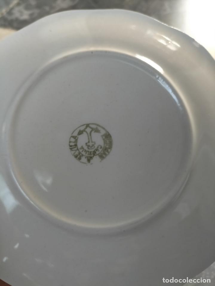 Antigüedades: PICKMAN CARTUJA CERAMICA ANTIGUA PORCELANA 3 PLASTOS 3 TAZAS VER FOTOS - Foto 10 - 216771285