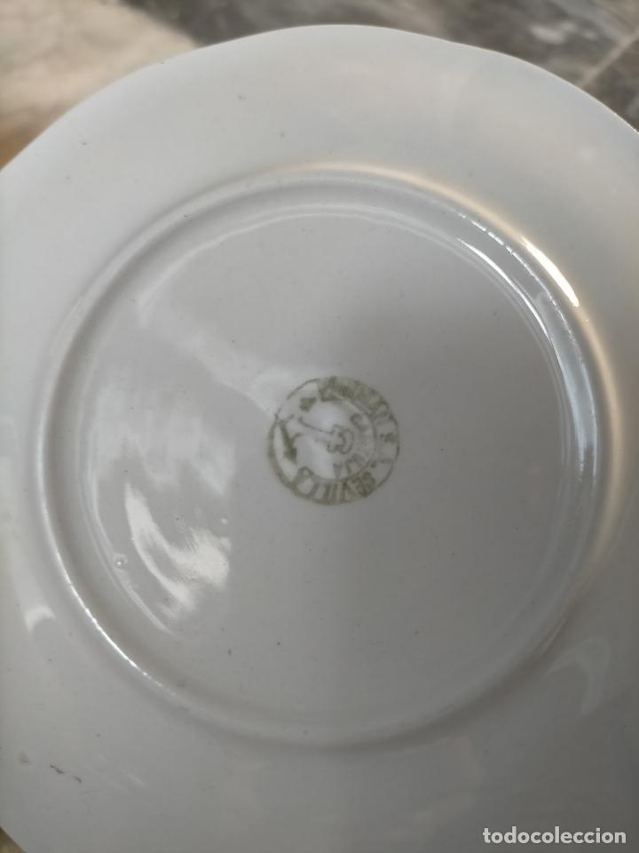 Antigüedades: PICKMAN CARTUJA CERAMICA ANTIGUA PORCELANA 3 PLASTOS 3 TAZAS VER FOTOS - Foto 13 - 216771285