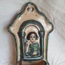 Antigüedades: BONITA BENDITERA CREO QUE MUY ANTIGUA. Lote 216772878