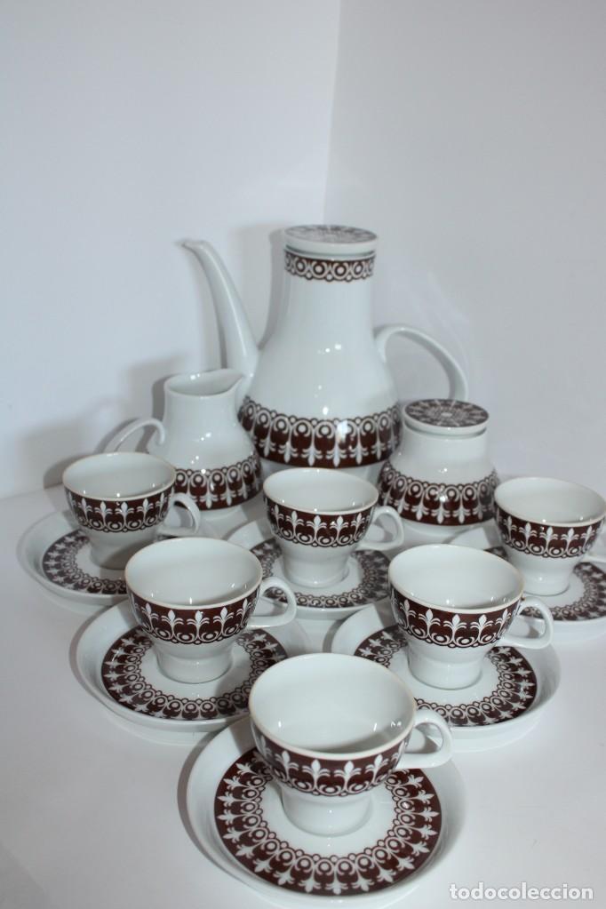 MAGNIFICO JUEGO PORCELANA SANTA CLARA VIGO (Antigüedades - Porcelanas y Cerámicas - Santa Clara)
