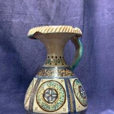 Antigüedades: JARRA DE ACEITE ZIYATA ZIATA CERAMICA MARRUECOS MARROQUI FES MEKNES 32X21CMS. Lote 216785408