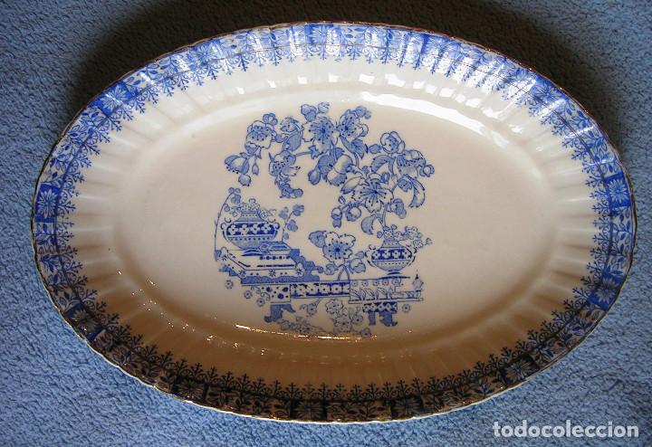 FUENTE PORCELANA SANTA CLARA, CHINA BLAU. DE 25 CMS DE LARGO. COCINA (Antigüedades - Porcelanas y Cerámicas - Santa Clara)