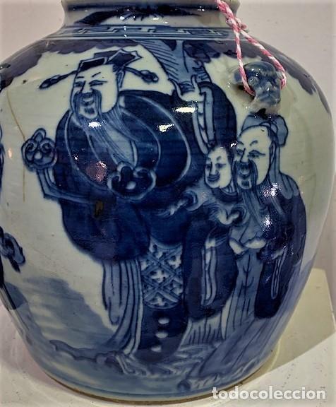 Antigüedades: Tetera china en porcelana esmaltada en azul. - Foto 2 - 216791767