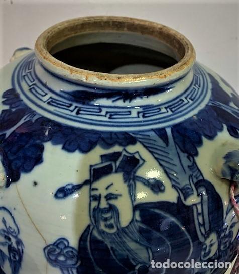 Antigüedades: Tetera china en porcelana esmaltada en azul. - Foto 5 - 216791767