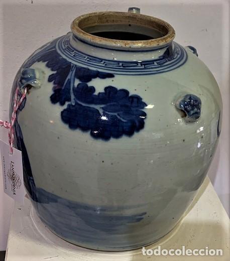 Antigüedades: Tetera china en porcelana esmaltada en azul. - Foto 8 - 216791767