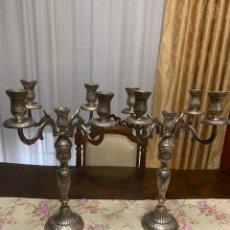 Antigüedades: PAREJA DE CANDELABROS. Lote 216806721