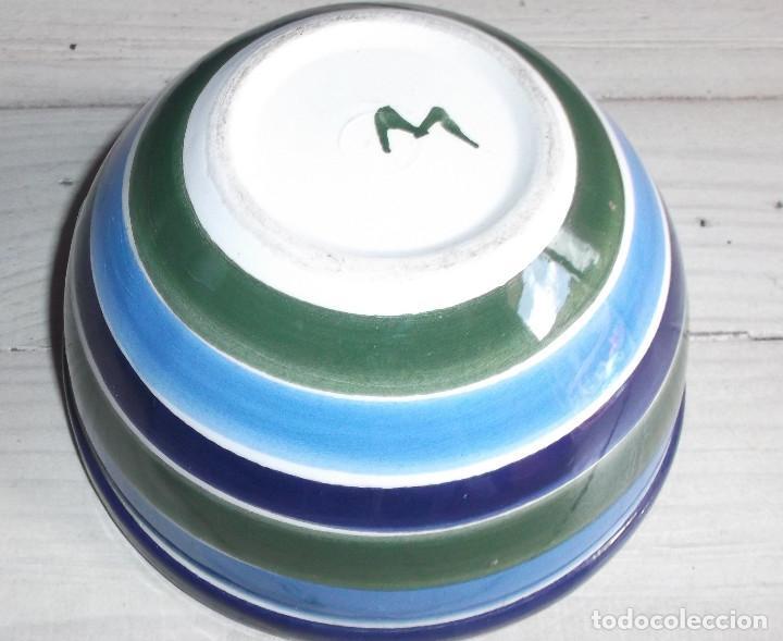 Antigüedades: Cuenco cerámica popular vidriada La Bisbal - Foto 2 - 216822098