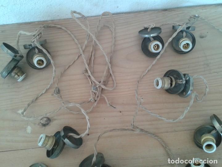 Antigüedades: LAMPARAS ALUMBRAR FIGURAS RELIGIOSAS VIRGEN SANTOS - Foto 8 - 216822827