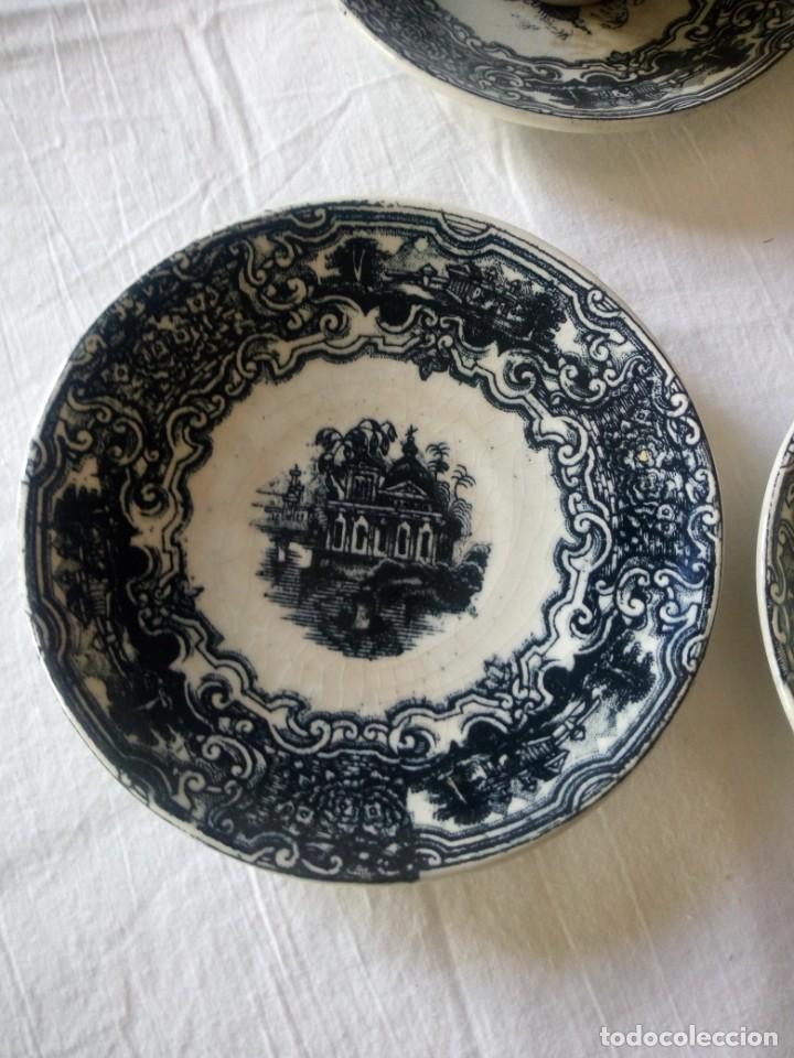 Antigüedades: ANTIGUO JUEGO DE CAFÉ Y JARRA DE LA CARTUJA PIKMAN SEVILLA - Foto 3 - 216835087