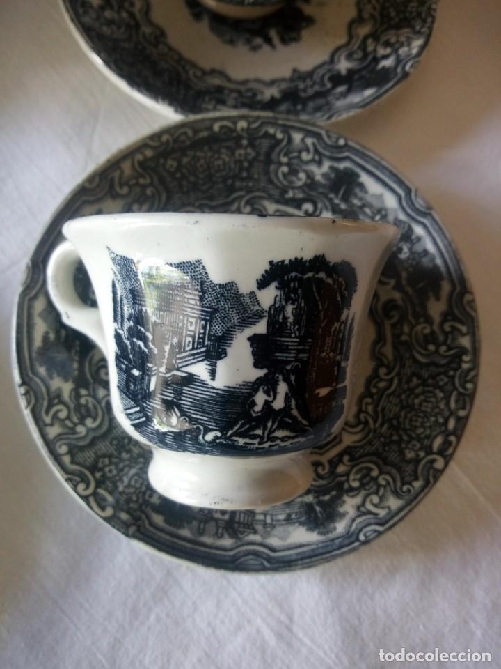 Antigüedades: ANTIGUO JUEGO DE CAFÉ Y JARRA DE LA CARTUJA PIKMAN SEVILLA - Foto 4 - 216835087